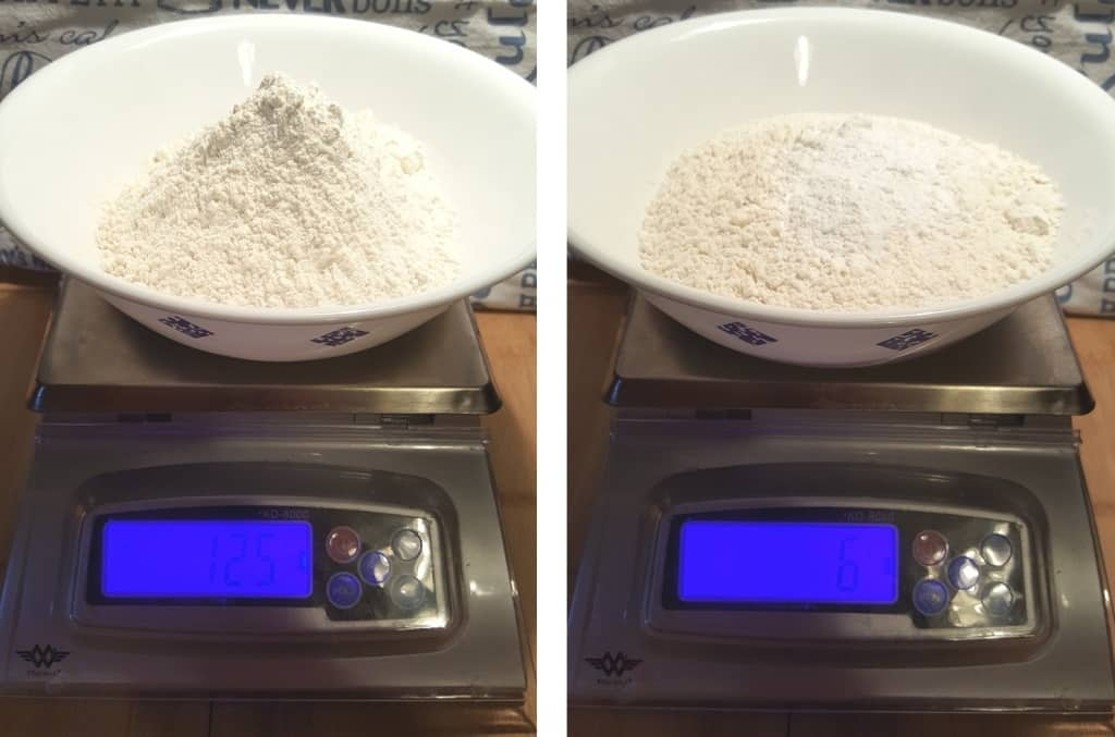 Measure out the Flour and the Baking Powder
