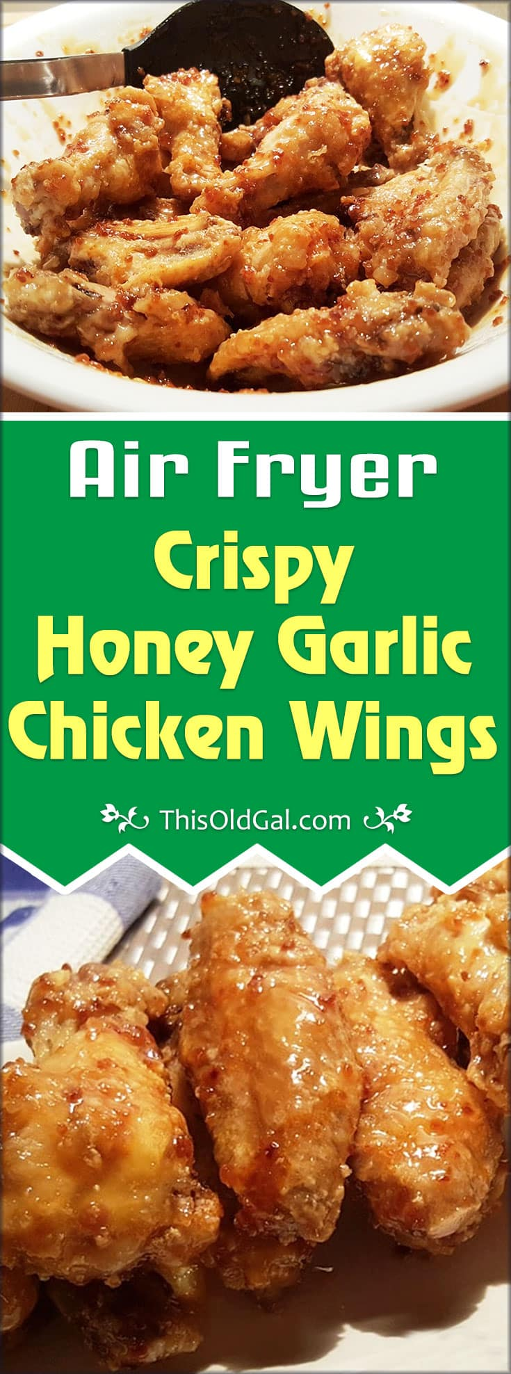 Air Fryer Crispy Honey Garlic Chicken Wings