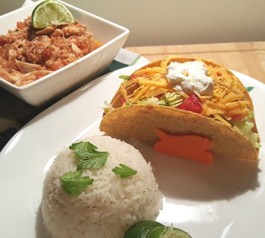 Pressure Cooker Salsa Lime Chicken with Cilantro Lime Rice