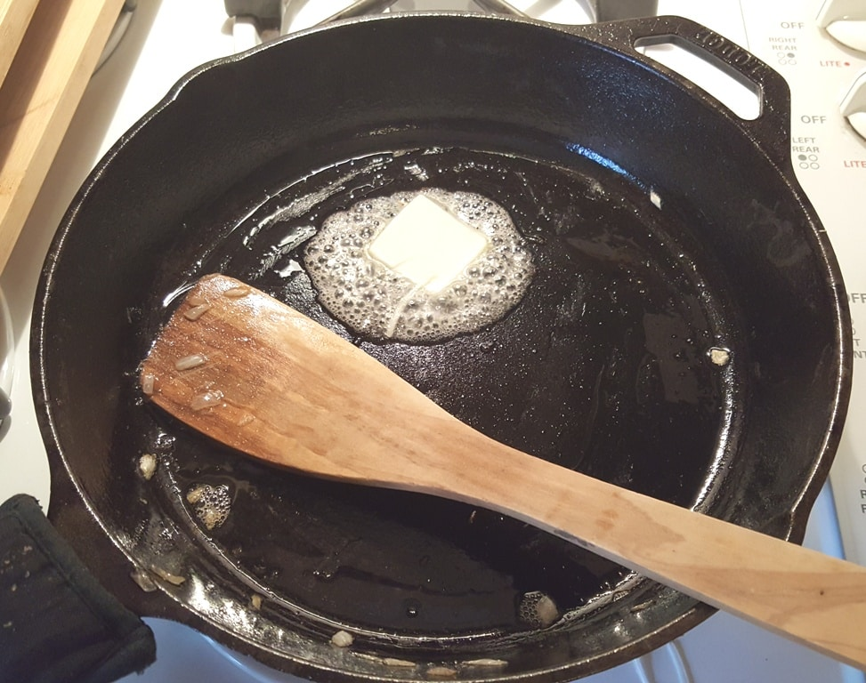 The Cast Iron Skillet Should Still Be Hot