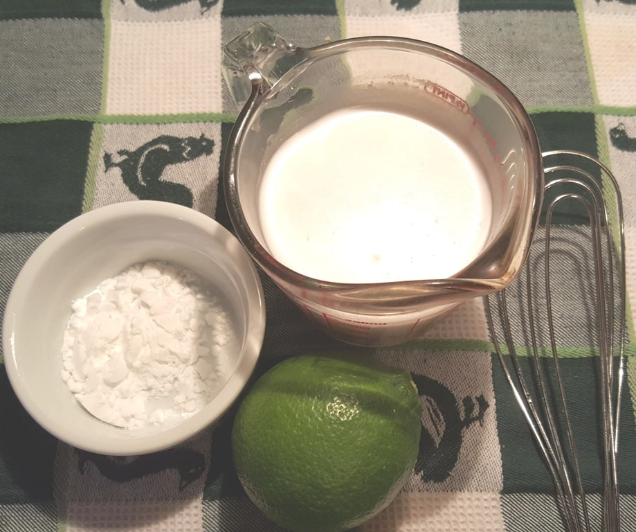 Whisk the Potato Starch in with the Coconut Milk