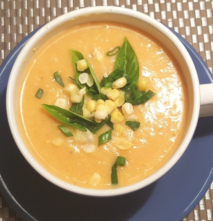 Vegan Pressure Cooker Vegetarian Corn Chowder Soup