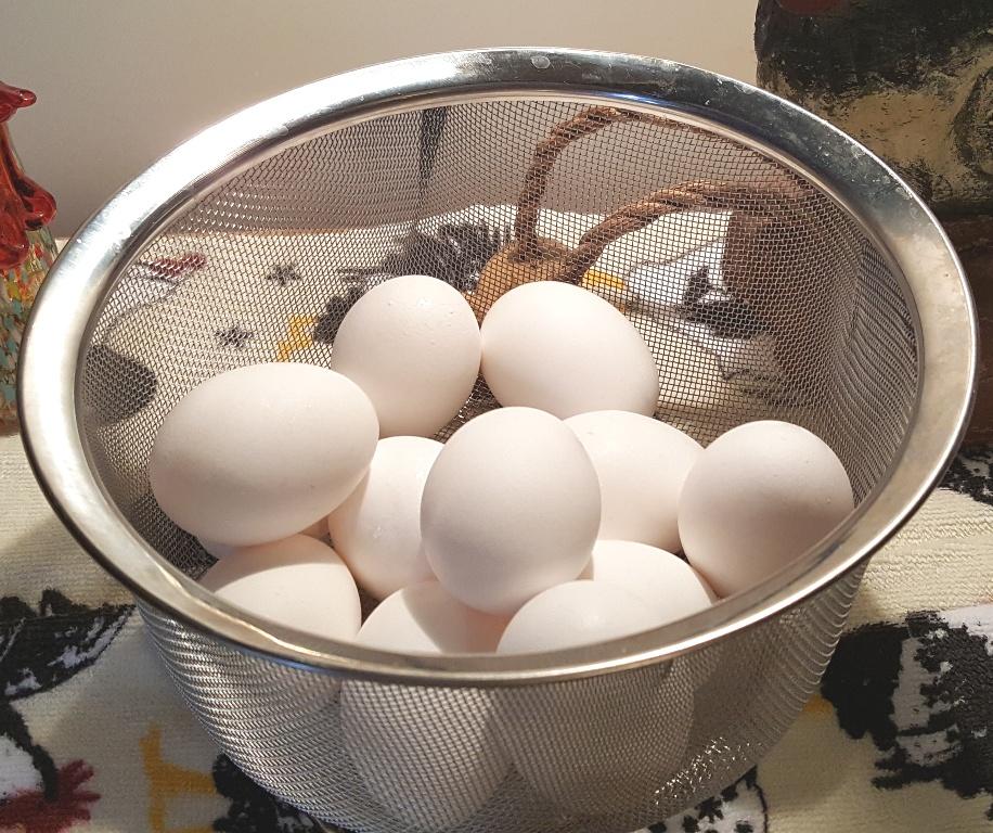 Dozen Eggs in RSVP Steamer Basket