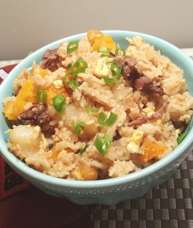 Japanese Vegetable Beef Curry Fried Rice