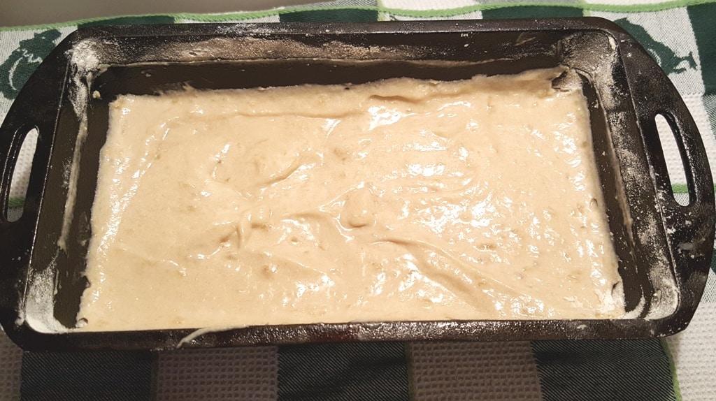 Pour Batter into Loaf Pans