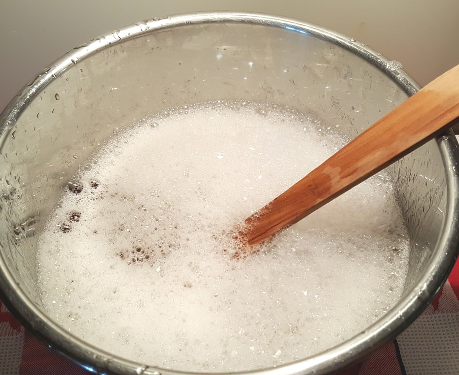 Soak the Cooking Pot in Hot Soapy Water