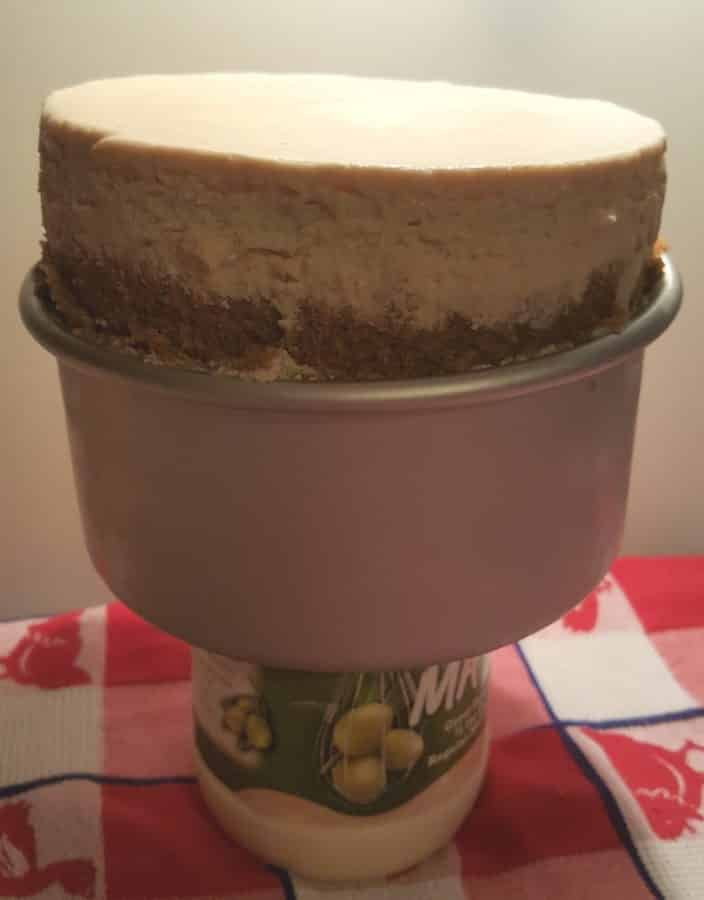 Remove Cheesecake from Push Pan