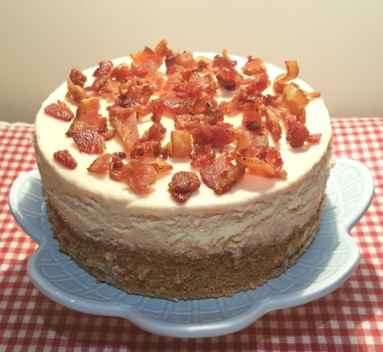 Pressure Cooker Maple Bacon Cheesecake with Candied Bacon