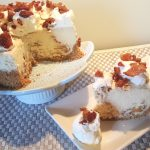 Pressure Cooker Maple Bacon Cheesecake with Peppered Maple Bacon
