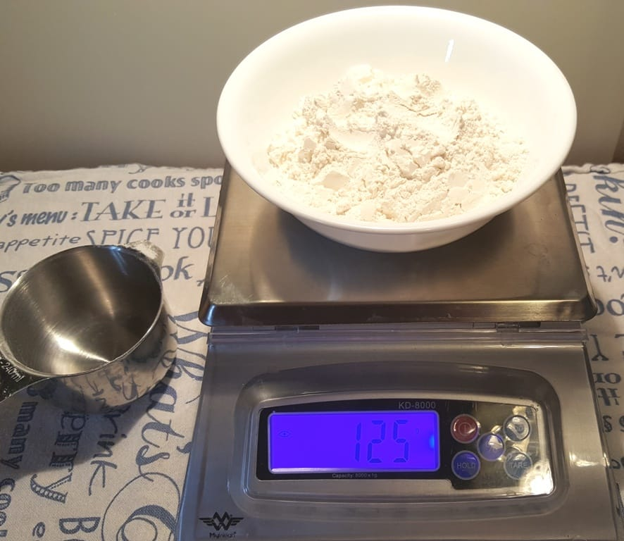 The Flour Weighs 125 Grams
