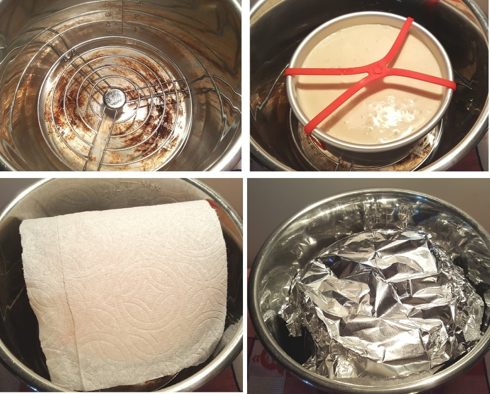 Place Cheesecake in Pressure Cooker Cooking Pot
