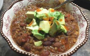 Pressure Cooker Vegan Lentil Chili