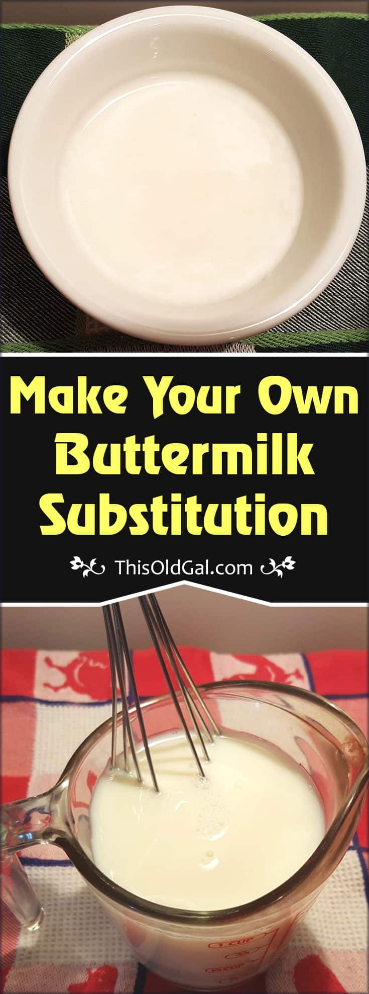 Make Your Own Buttermilk Substitution