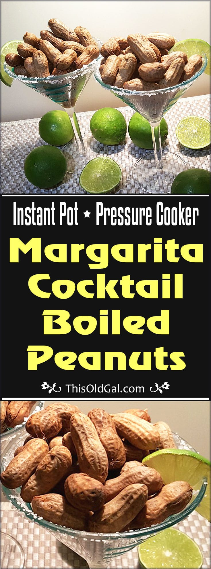 Pressure Cooker Margarita Cocktail Boiled Peanuts