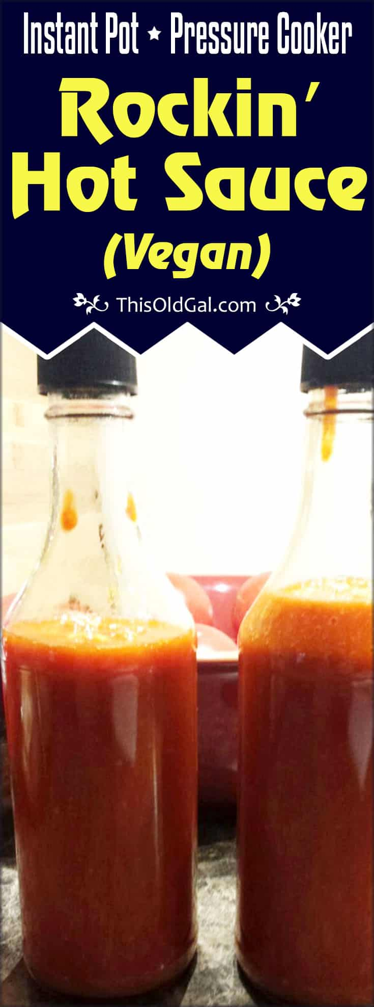 Pressure Cooker Rockin' Hot Sauce (Vegan)