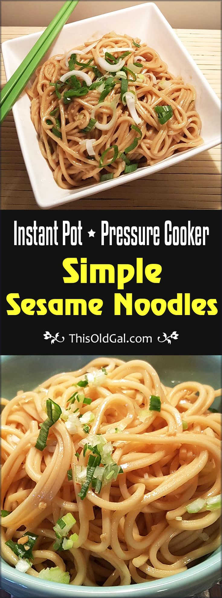 Stove or Pressure Cooker Simple Sesame Noodles