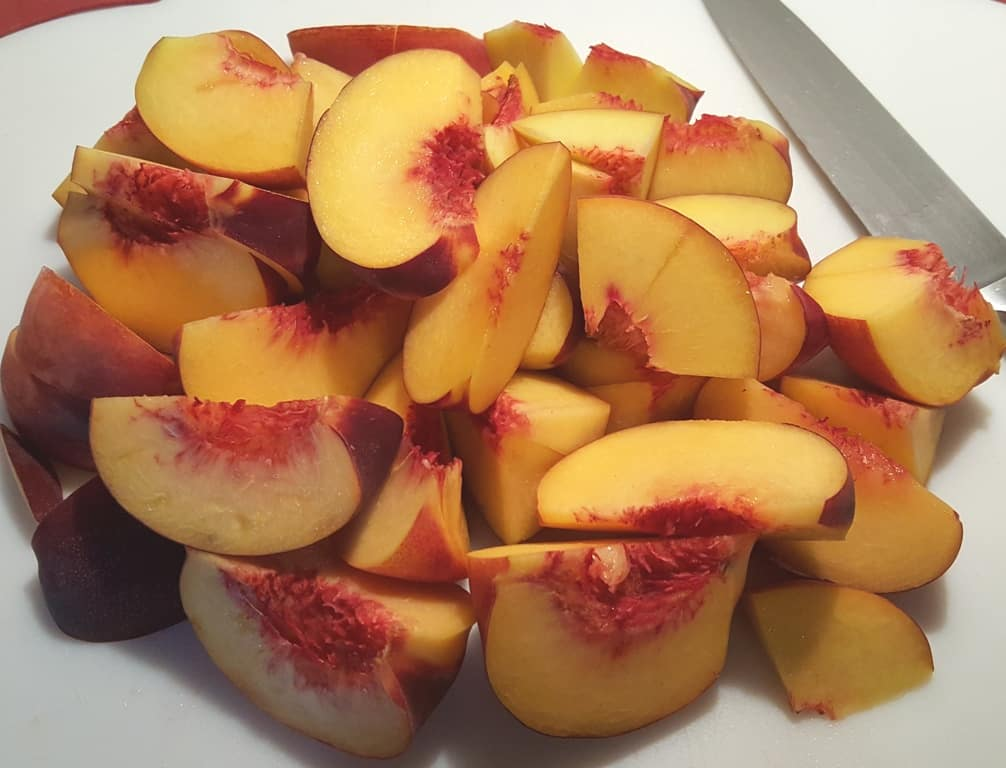 Cut up Fresh Peaches