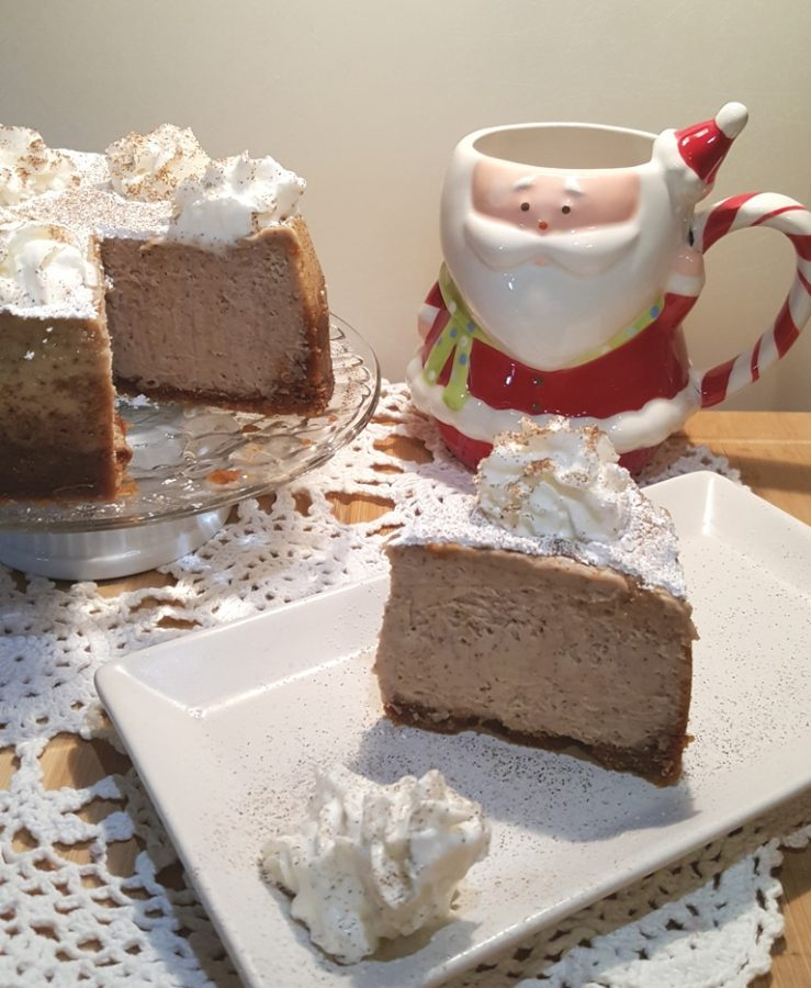 Pressure Cooker Holiday Spice Peppernuts Cheesecake