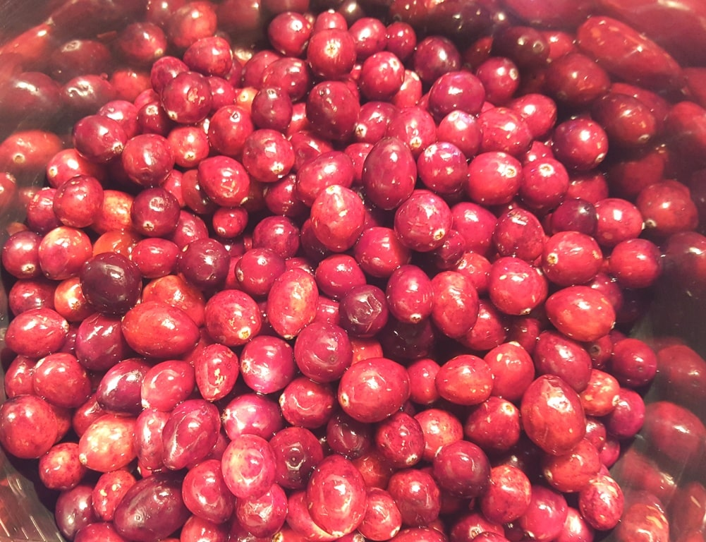 Add the Cranberries to the Pressure Cooker