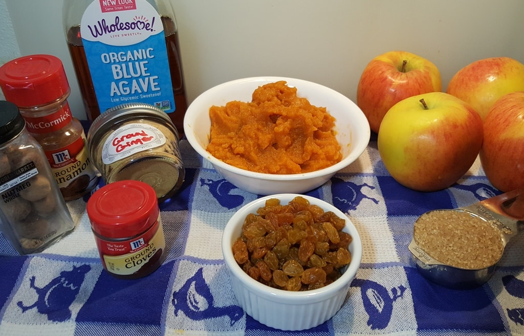 Cast of Ingredients for Pressure Cooker Pumpkin Apple Butter