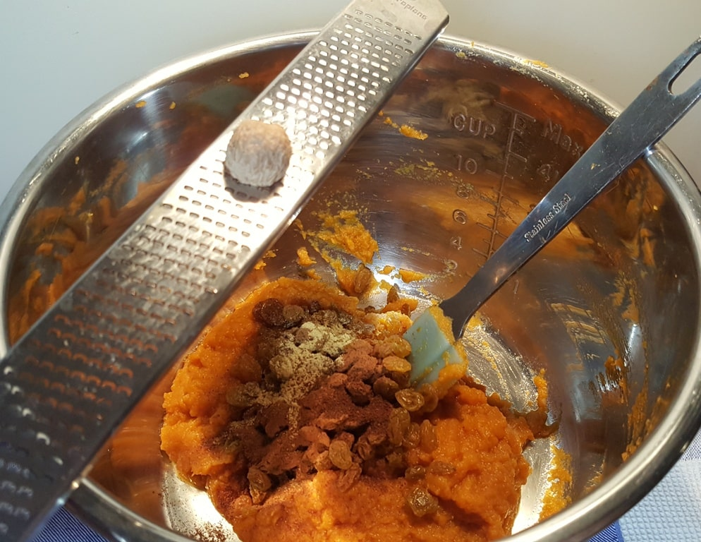 Add Pumpkin and Spices to the Pressure Cooker