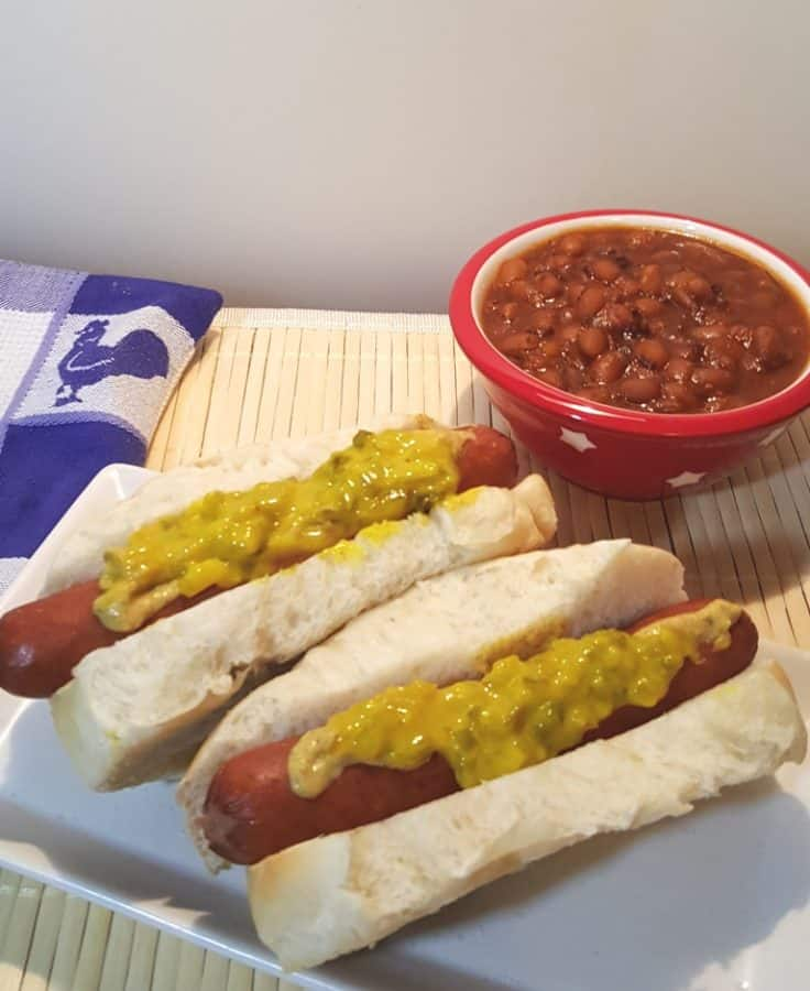 Pressure Cooker Dirty Water Hotdogs and Baked Beans