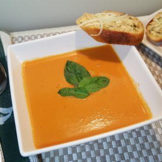 Pressure Cooker Nordstrom Tomato Basil Soup {Tomato Bisque}