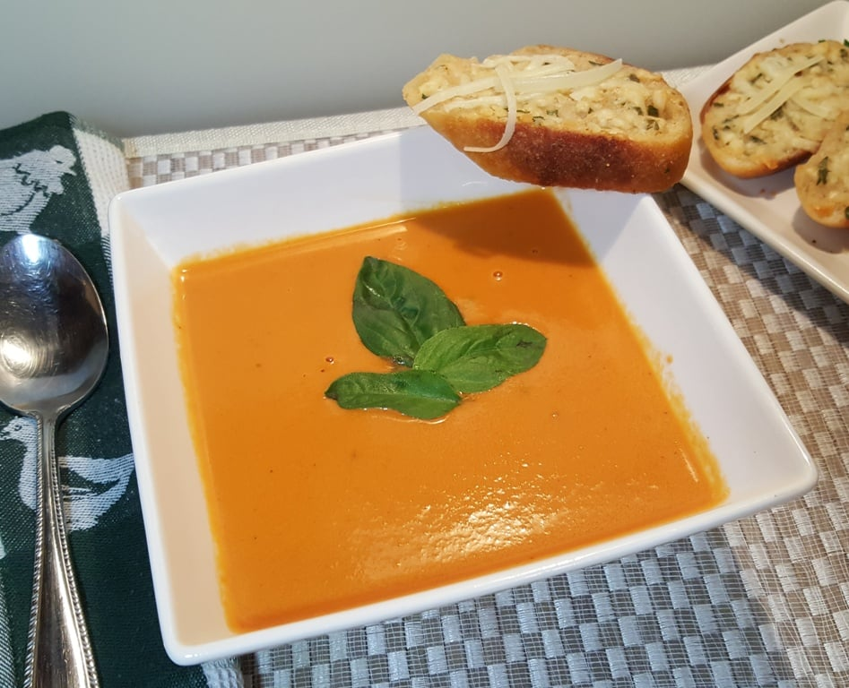 Pressure Cooker Nordstrom Tomato Basil Soup - This Old Gal