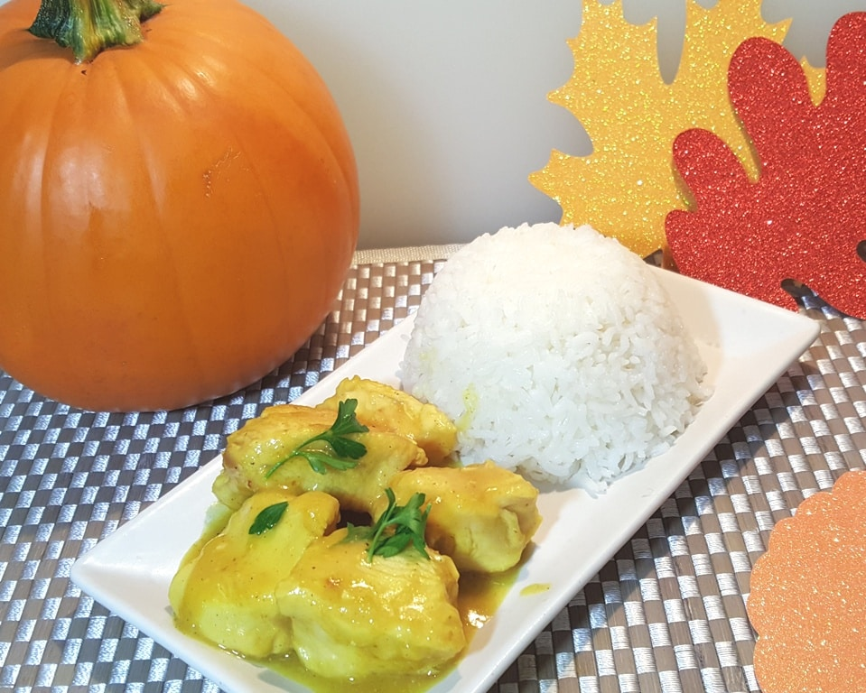 Pressure Cooker Pumpkin Curry Chicken