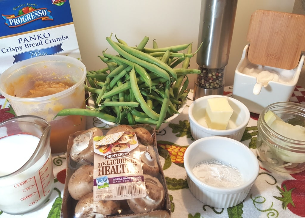 Cast of Ingredients for Instant Pot Green Bean Casserole