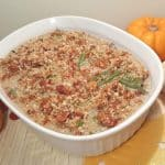 Pressure Cooker Fresh Green Bean Casserole with Crispy Bacon Topping