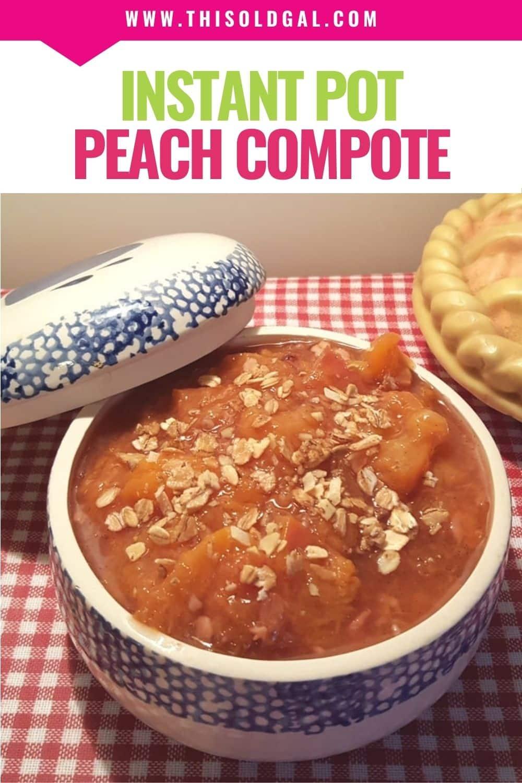 Pressure Cooker Fresh Peach Crisp Compote