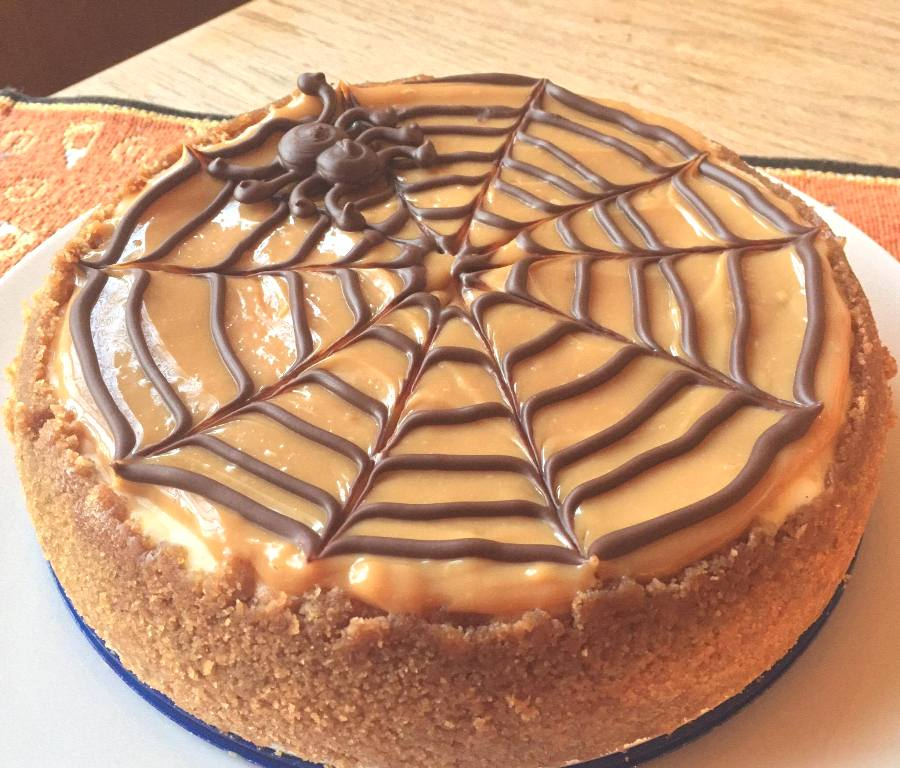 Spider Web Halloween Cheesecake