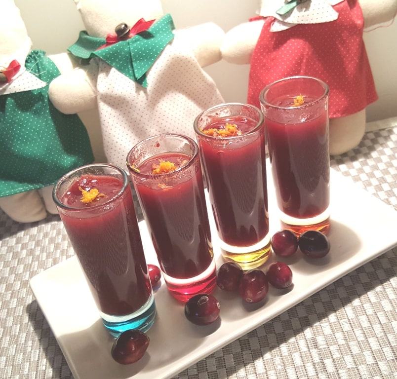 Holiday Raspberry Cranberry Vodka Spritzers