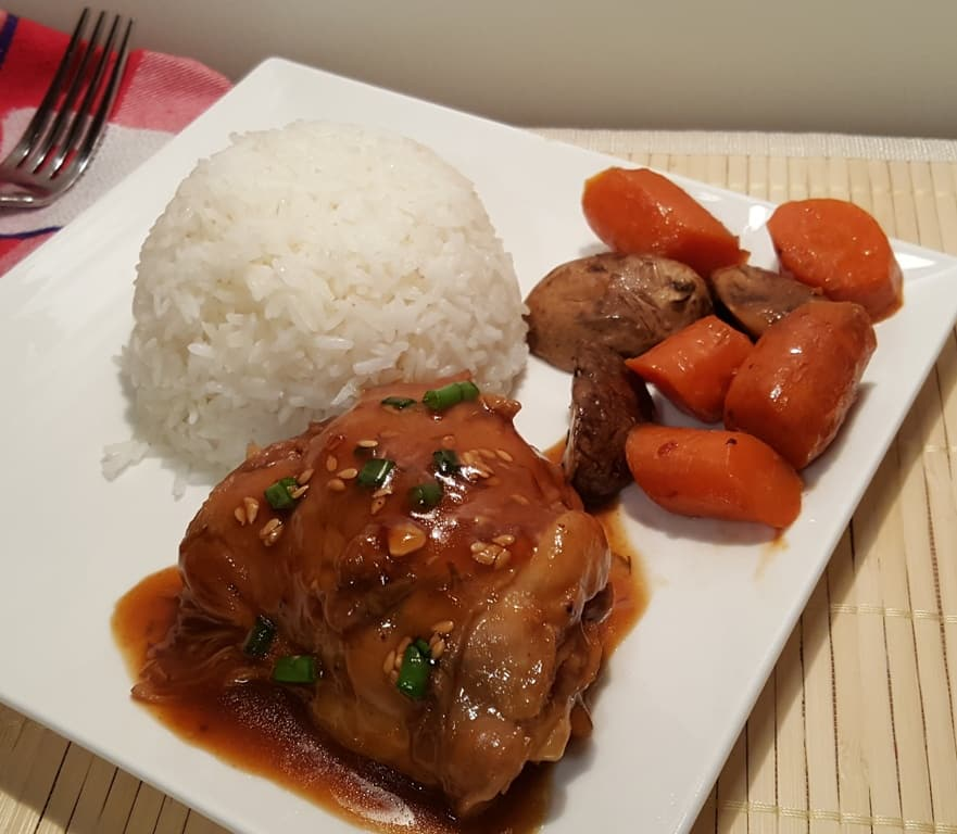 One Pot Pressure Cooker Chinese Simmered Chicken with Rice
