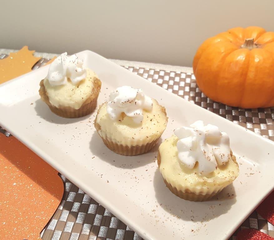 Pressure Cooker Pumpkin Muffin Cheesecake Bites