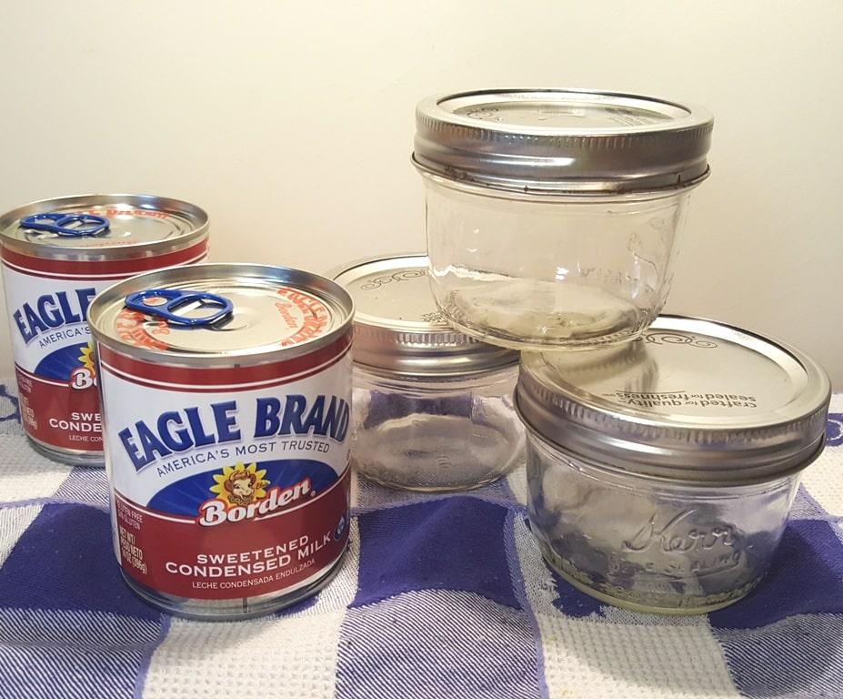 Cast of Ingredients for Simple Dulce de Leche Recipe