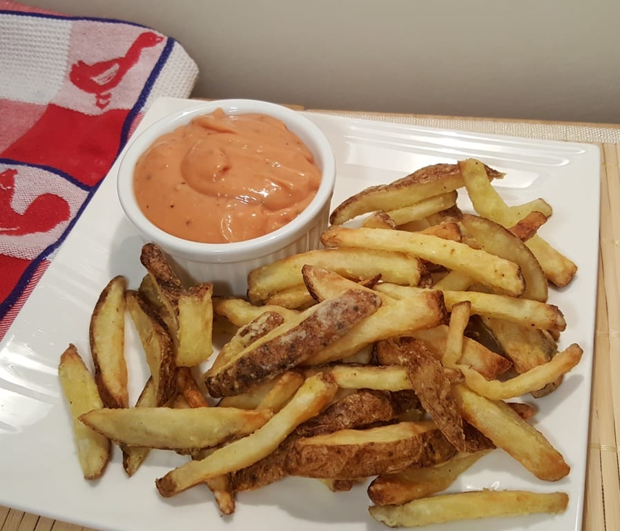 Air Fryer Seasoned French Fries with Zax Sauce