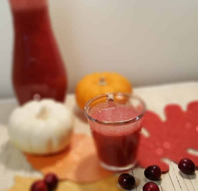 Pressure Cooker Holiday Raspberry Cranberry Spritzer