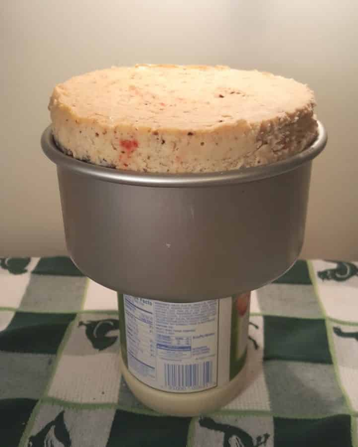 Use any jar to remove Cheesecake from Push Pan