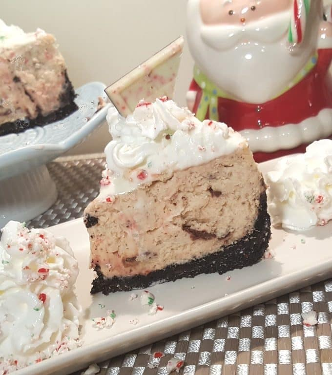 Instant Pot Peppermint Milkshake Cheesecake