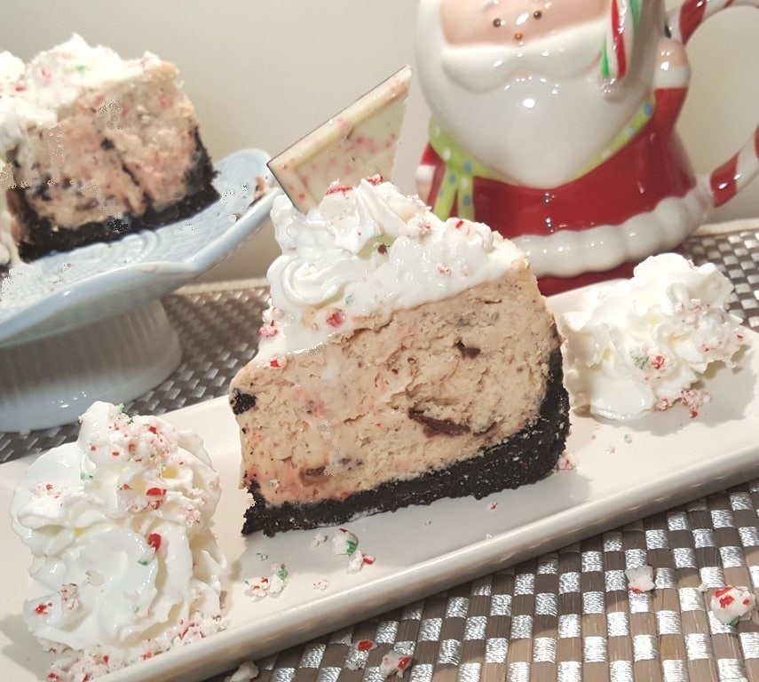 Pressure Cooker Peppermint Milkshake Cheesecake