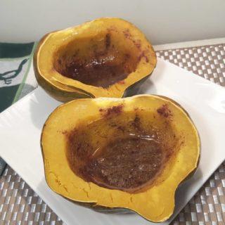 Pressure Cooker Simple Sweet Acorn Squash {Instant Pot}