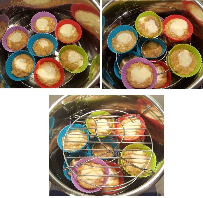 Use Trivets to Stack the Muffin Cups