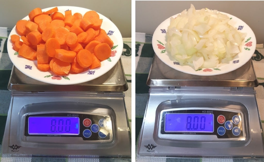 Weigh the Carrots and Onions