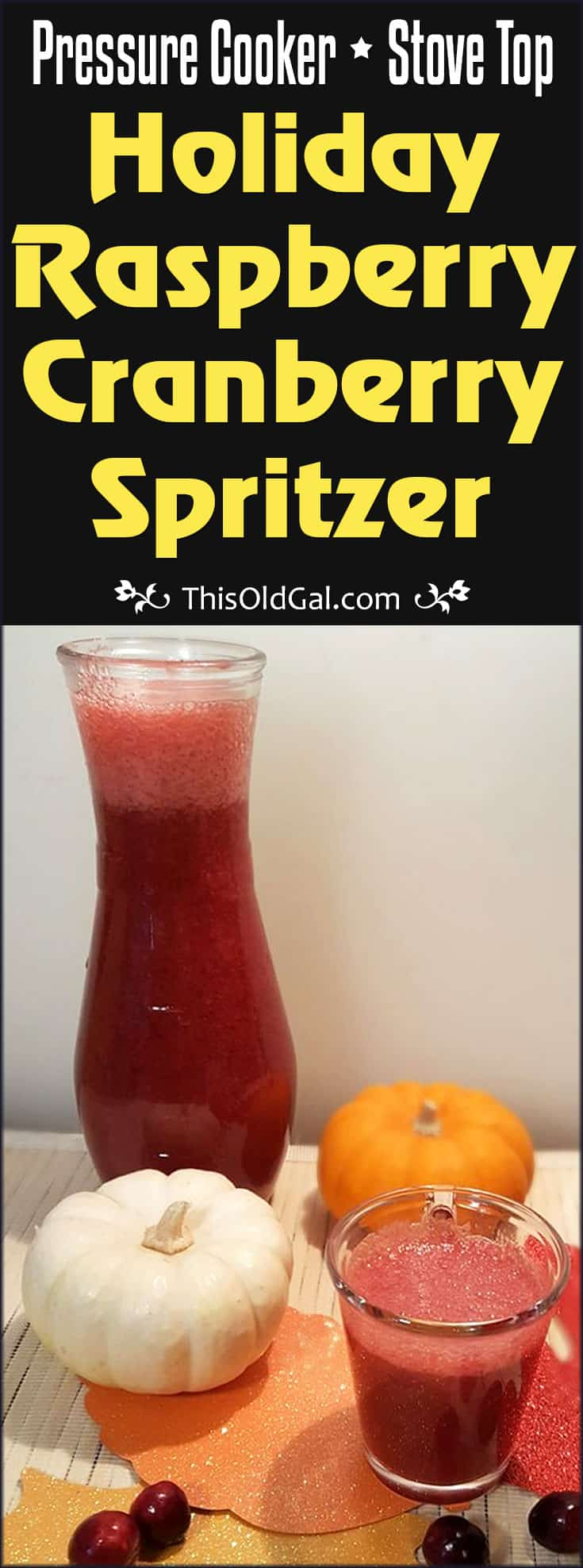 Holiday Raspberry Cranberry Spritzer