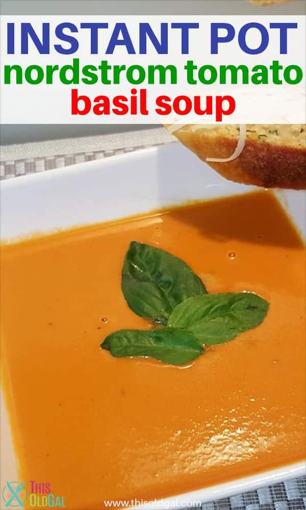 Nordstrom Tomato Basil Soup