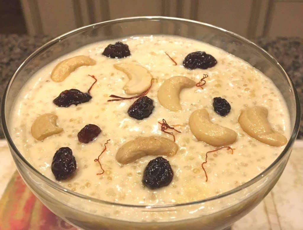 Pressure Cooker Quinoa Kheer {Indian Quinoa Pudding}
