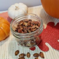 Air Fryer Toasted Cinnamon Sugar Pumpkin Seeds
