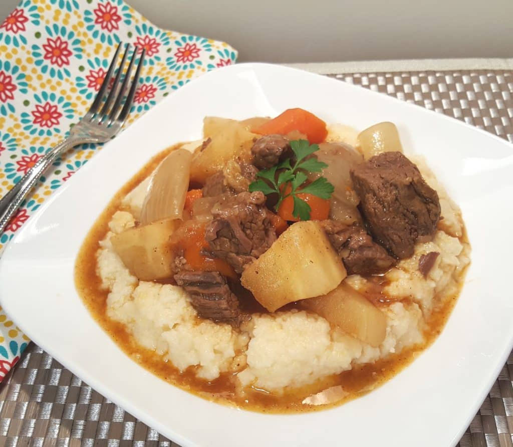 Pressure Cooker Beef Stew with Root Vegetables